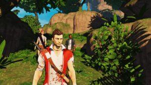 Oyundaki karakterler, fakat sadece kanlı t-shirt giymiş arkadaşı yönetebiliyoruz.
